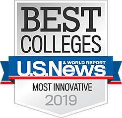 U.S. News Best Colleges Most Innovative 2019 Badge
