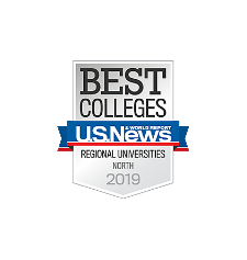 U.S. News Best Colleges Regional Universities North 2019 Badge