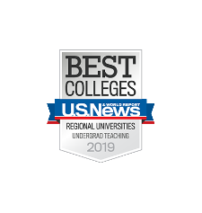 U.S. News Best Colleges Regional Universities Undergrad Teaching 2019 Badge