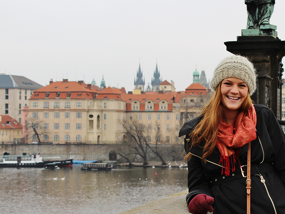 student studying abroad in czech republic