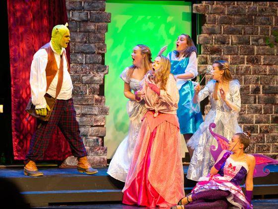 Endicott College's performance of Shrek the Musical