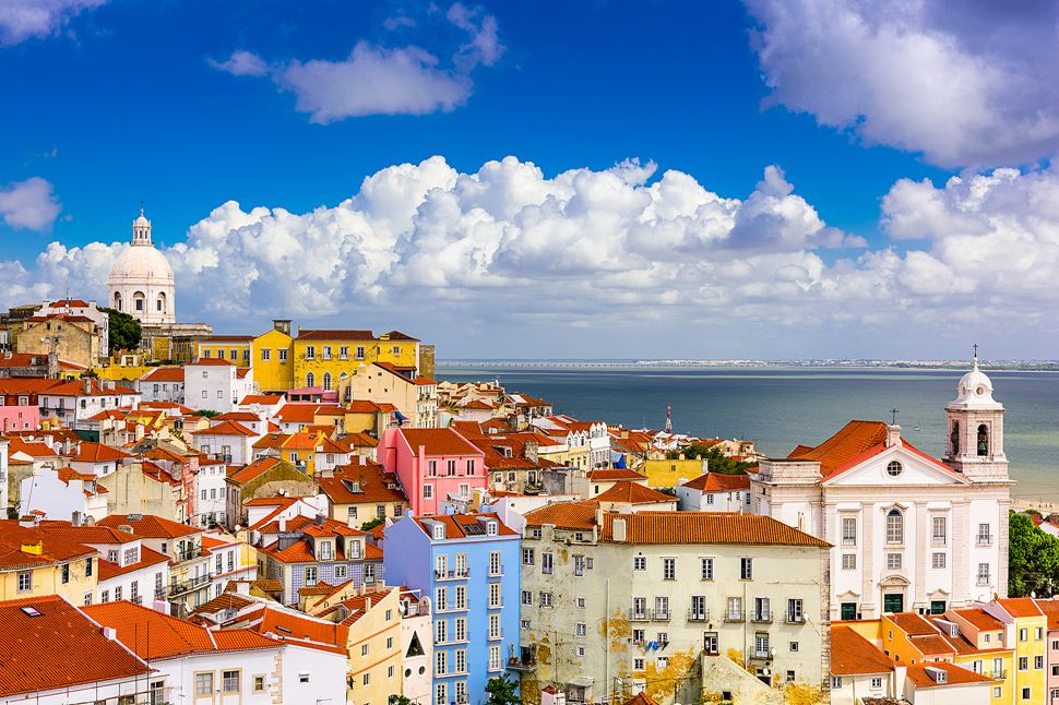 Scenic City View of Alfama Portugal