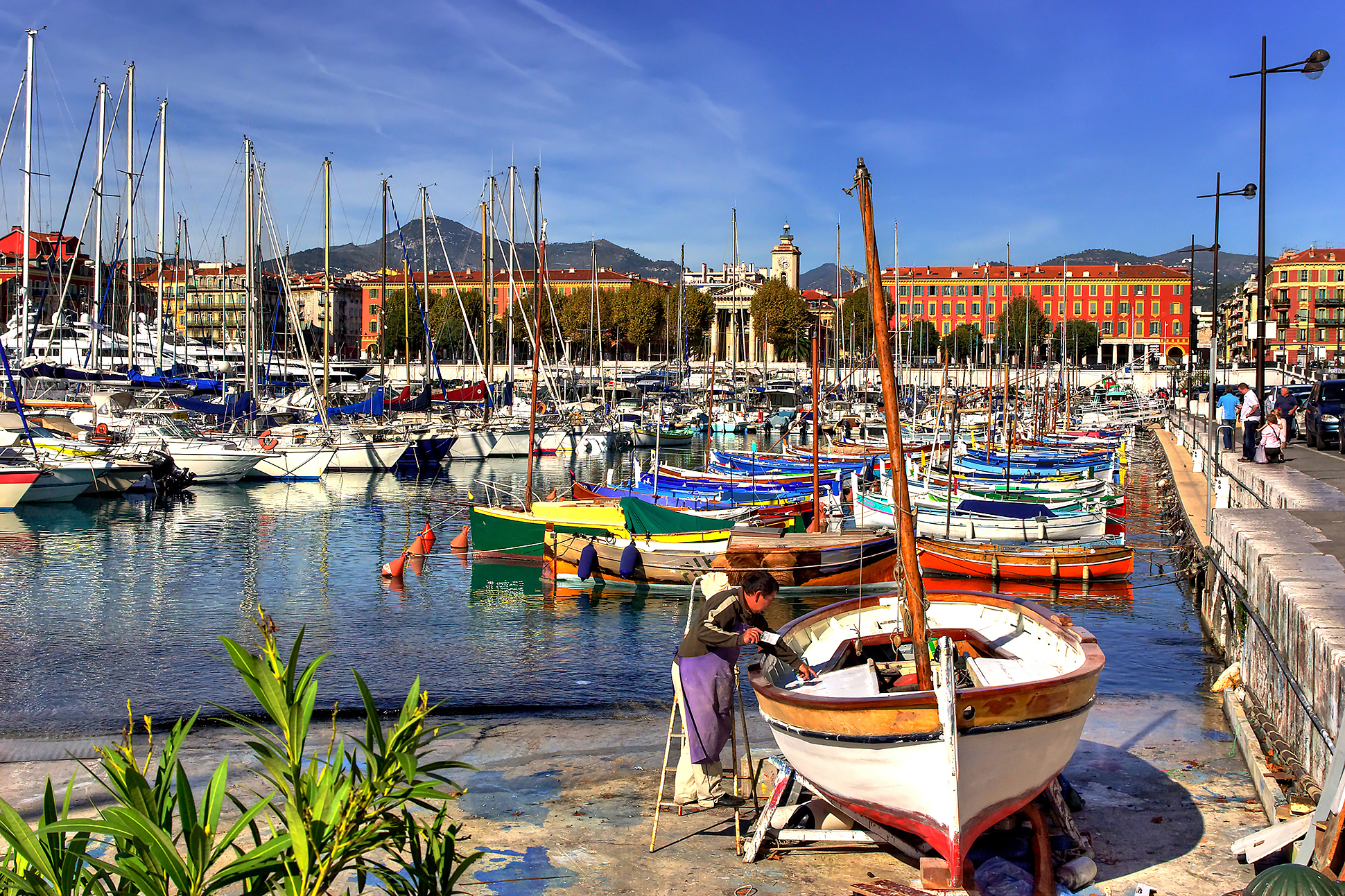 Boats in Nice France