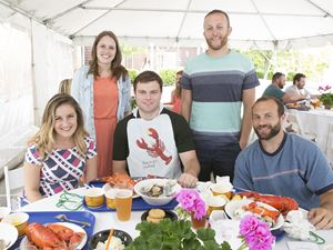 lobster bake lunch with alumni at misselwood