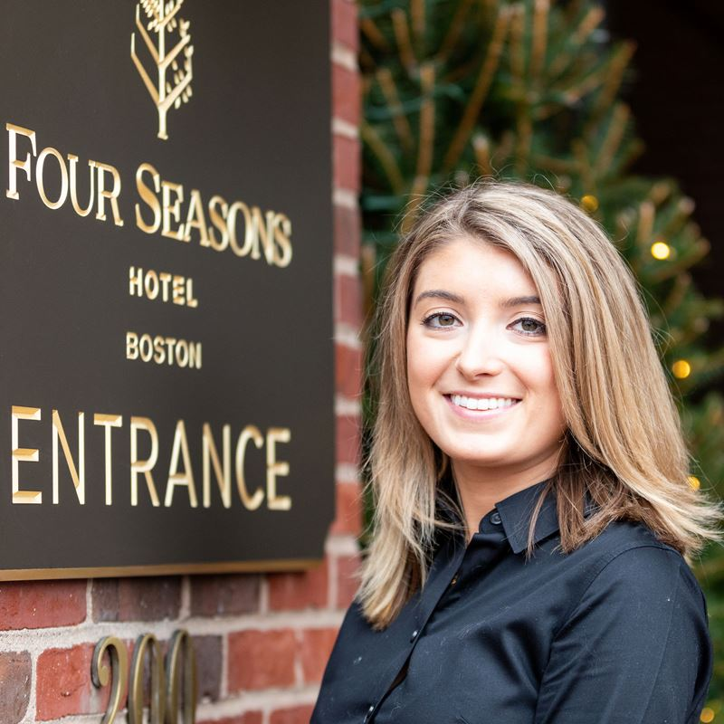 Endicott College student Julia McIntyre Four Seasons internship