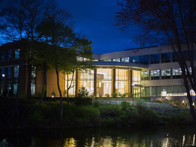 Night view of the Life Science Building