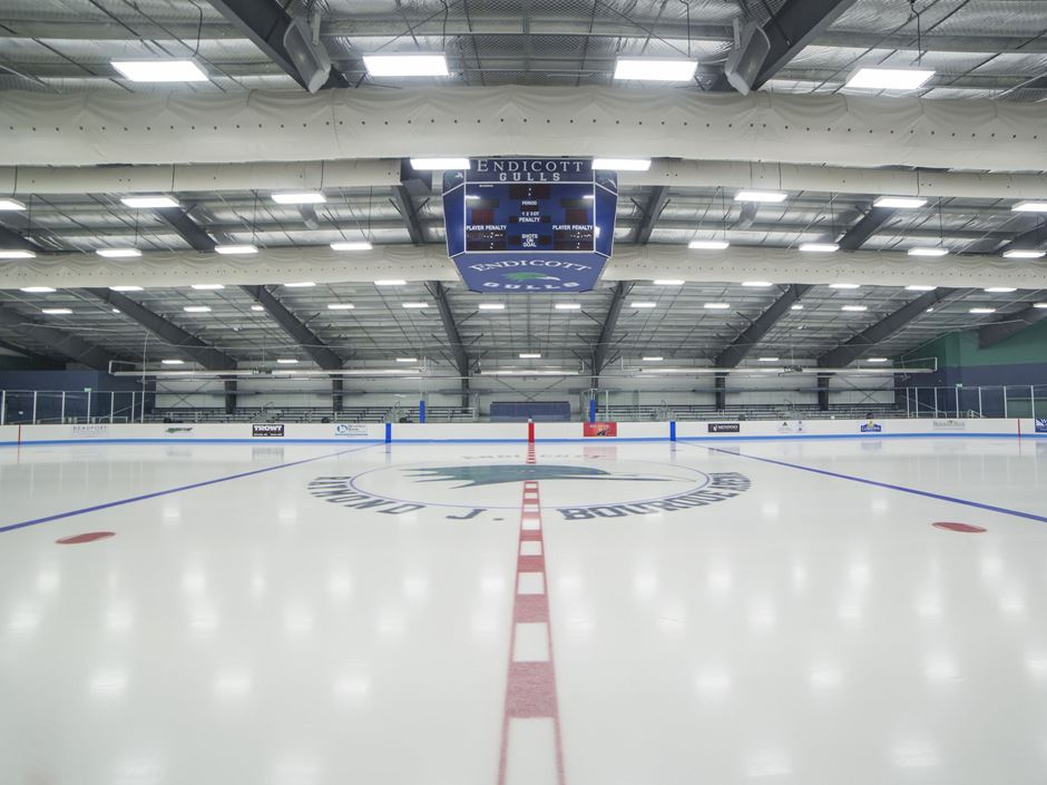 an empty ice rink