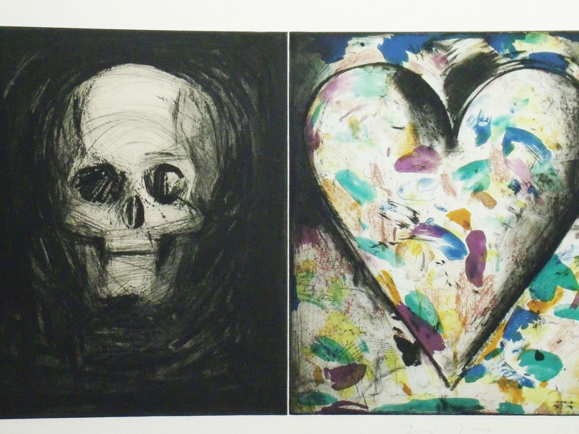 Jim Dine, Sovereign Nights, 1986, 24 x 40, drypoint, color aquatint with chine colle
