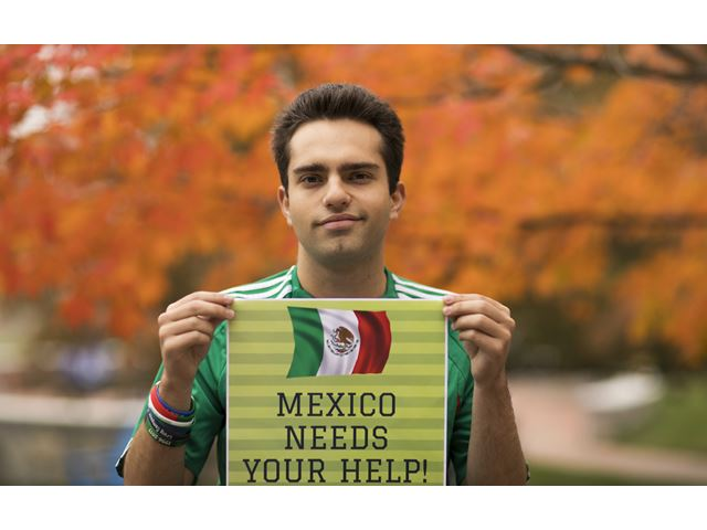 For Eddy Meyohas, Class of 2020 President and hospitality student, Fuerza Mexico means being able to help.