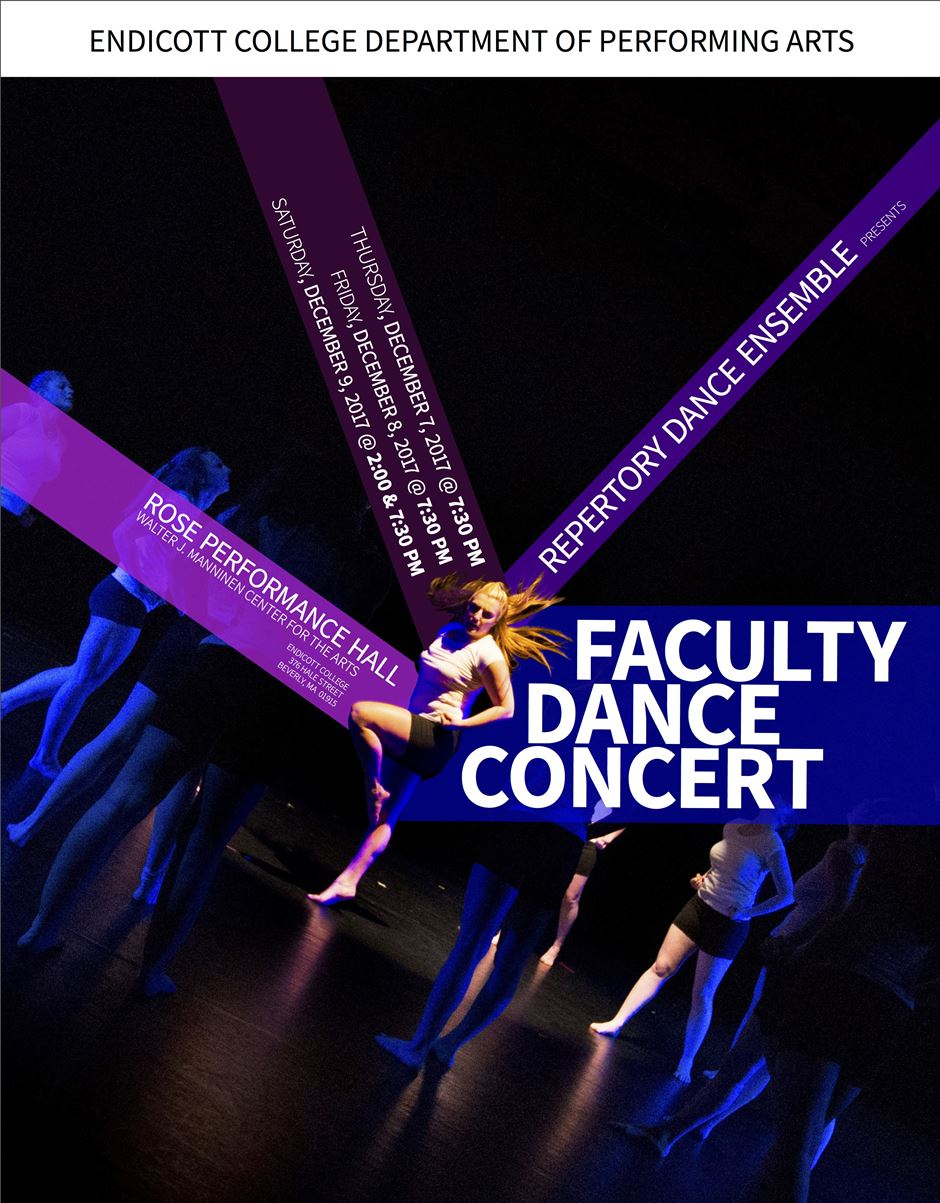 flyer for faculty dance performance