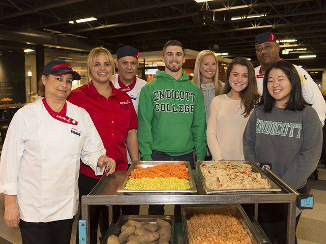 Endicott College and Sodexo give back to the community.