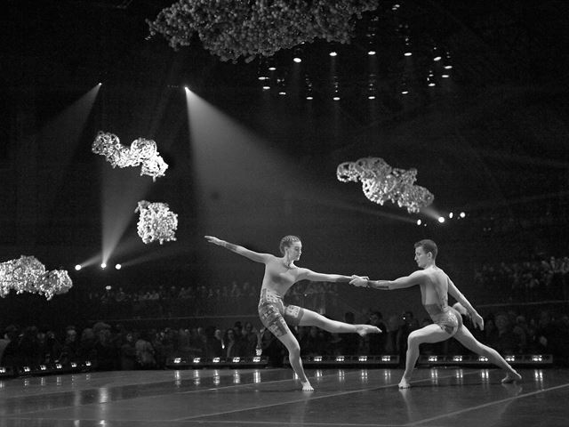Black and White photo of two dancers by Stephanie Berger