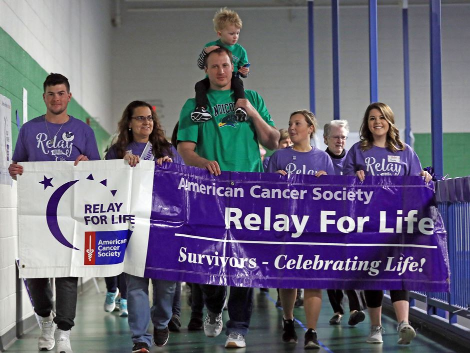 Nate Solder at Relay For Life