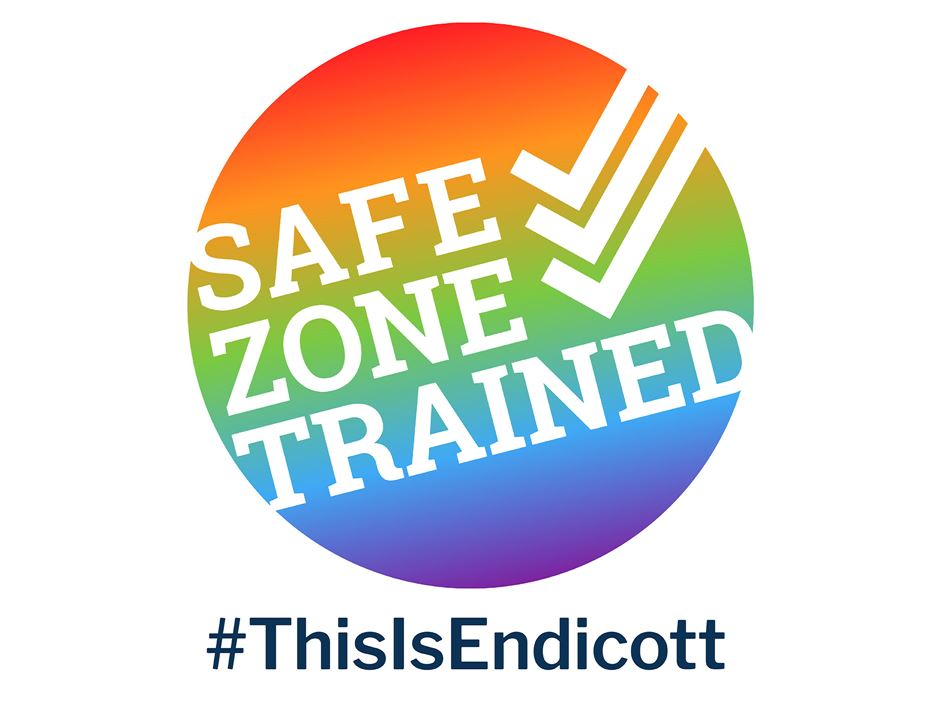 Safe Zone Trained Sticker and #ThisIsEndicott