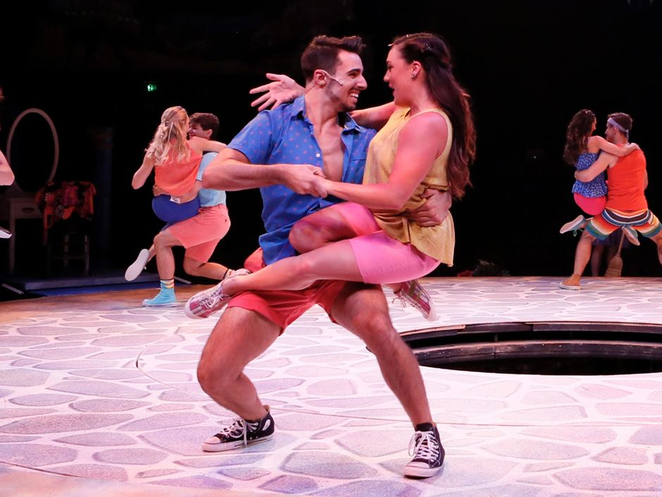 David Aranjo '17 dancing in Mamma Mia!