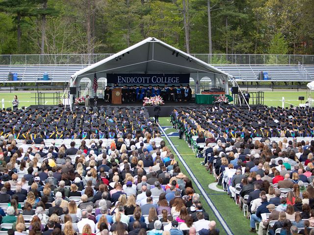 The field of guests at Commencement 2018