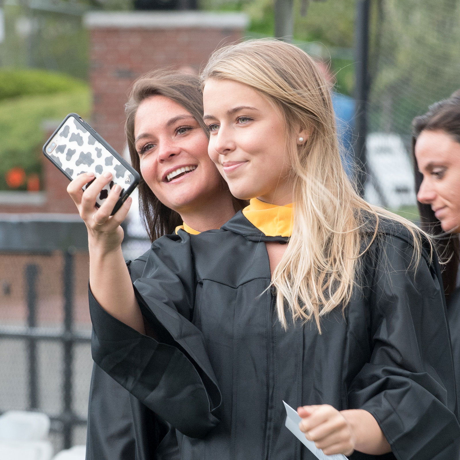 Nursing students taking a selfie