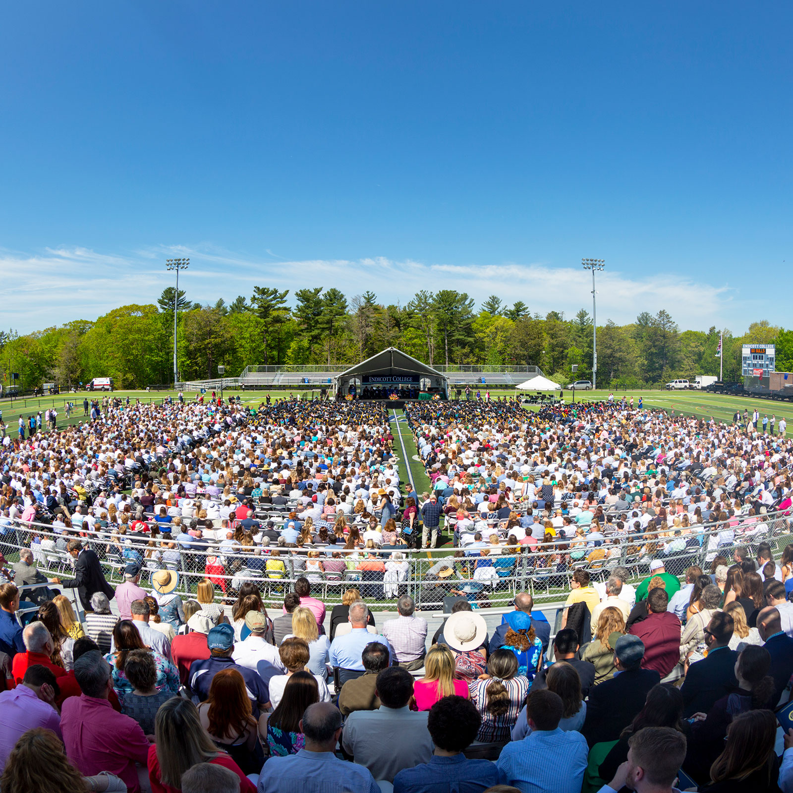 Overhead shot of entire Commencement crowd