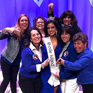 Molly Andrade and Miss Rhode Island supporters