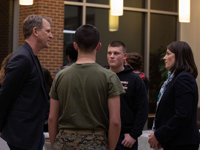 Event attendees discuss cybersecurity at Endicott