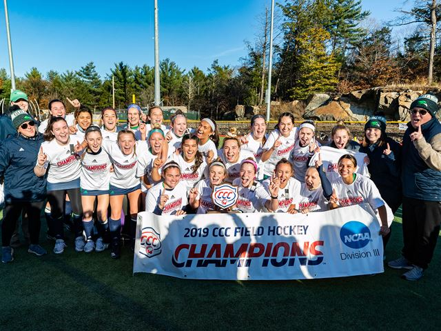 Field hockey celebrates winning CCC title
