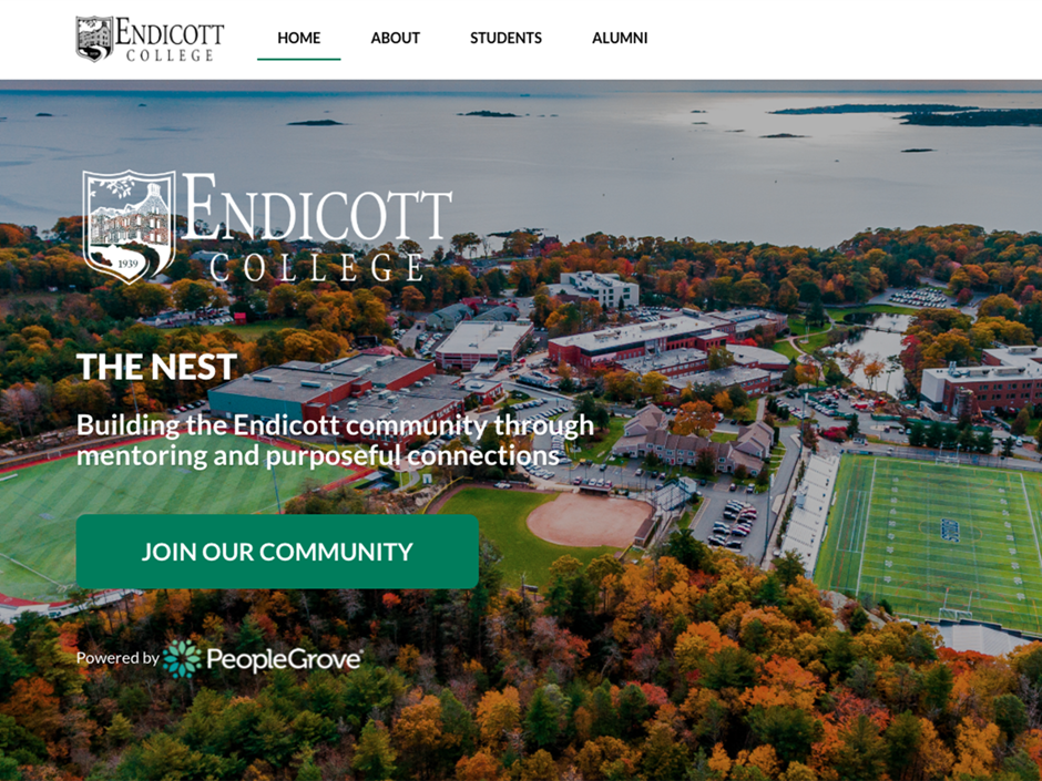 The Nest, a new platform will expand mentoring options at Endicott College.