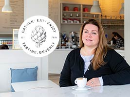 Tartine owner and Endicott alumna Monika Simon