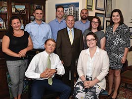 Endicott President Dr. Steven R. DiSalvo with alumni at the Cummings Center