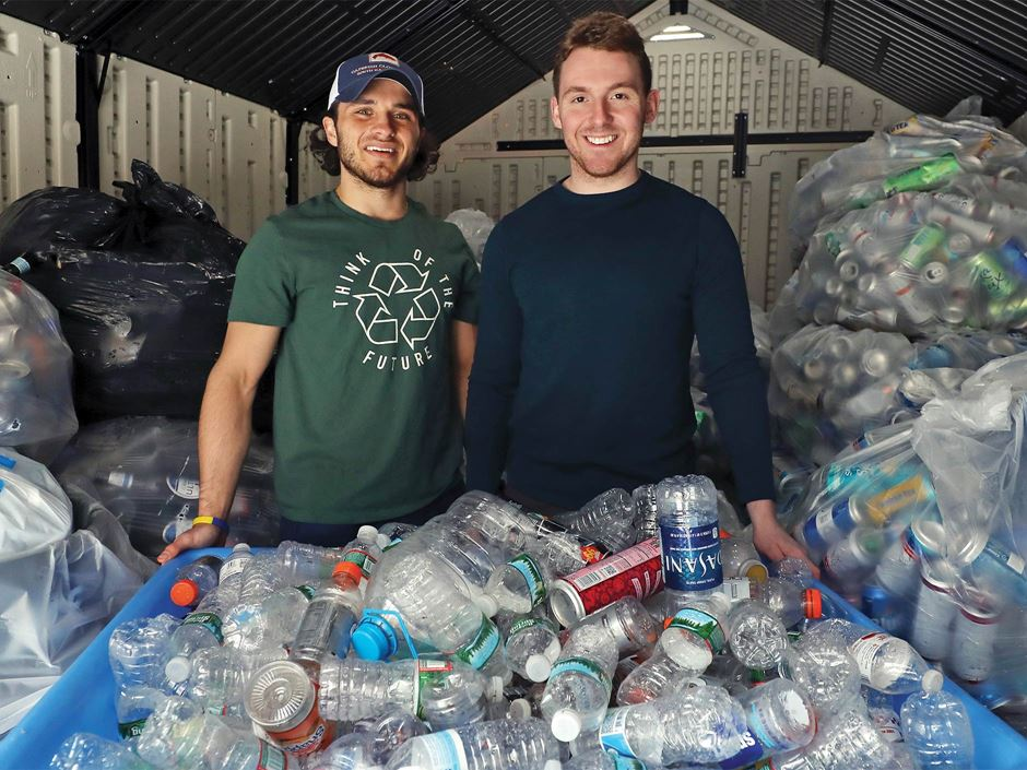 Endicott students recycle old cans