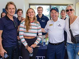 Endicott President Dr. Stephen R. DiSalvo interacts with students