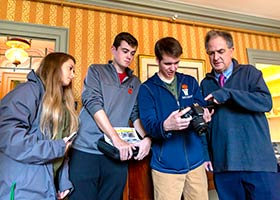 Digital Media students learned firsthand the cutting-edge possibilities of storytelling