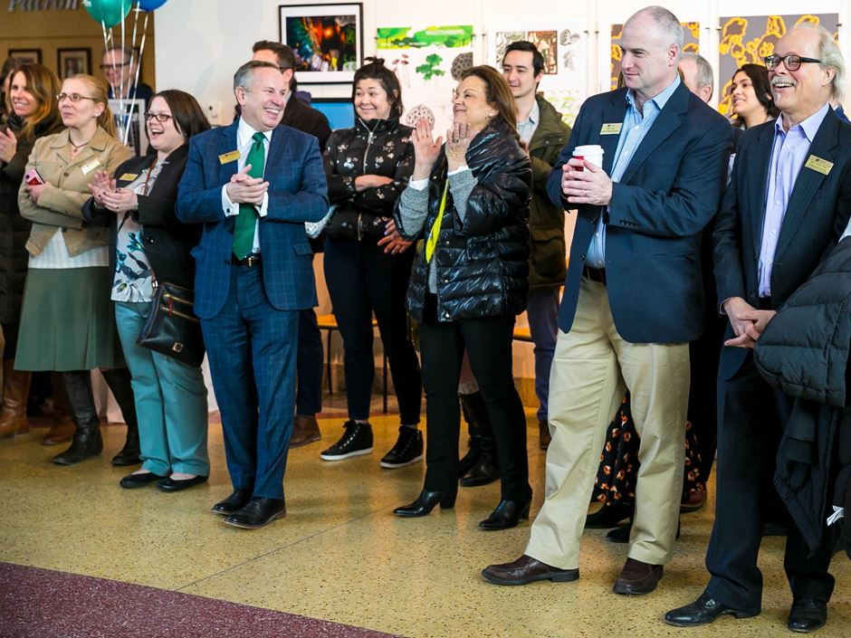 Endicott College faculty and staff at endowment party