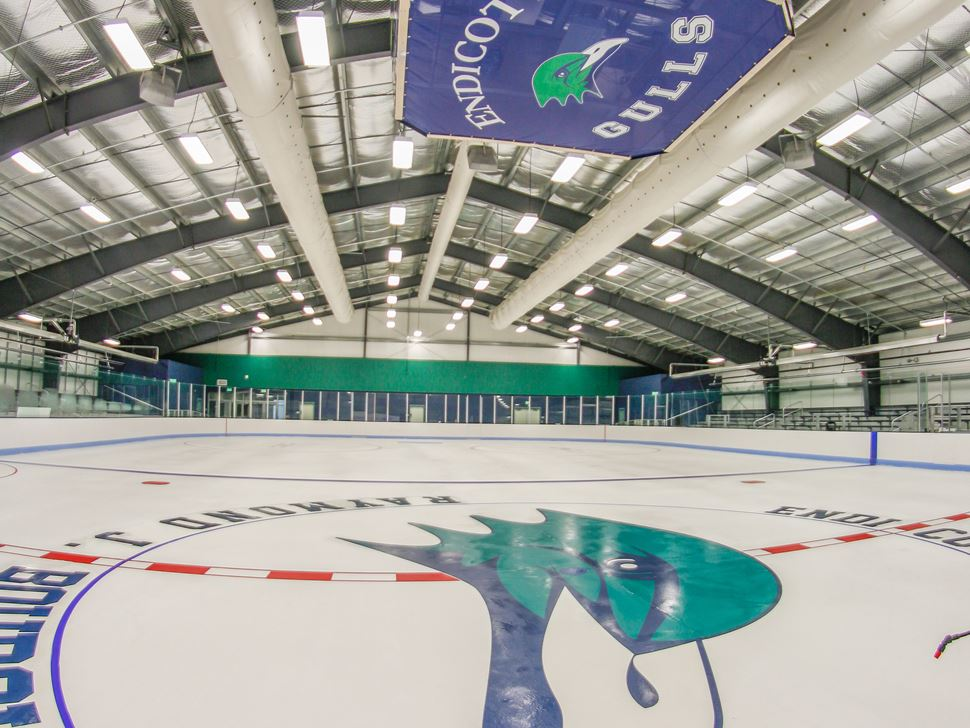 photograph of endioctt ice hockey rink