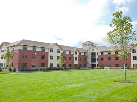 shot of residence hall on campus