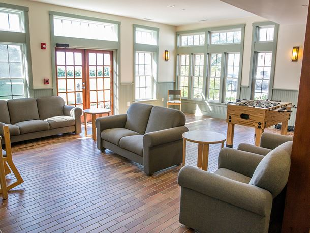an inside view of the wenham residence hall housing
