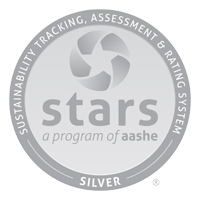 Silver Rating for Sustainability Tracking Assessment badge of accomplishment