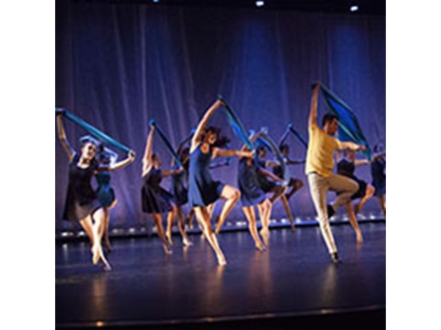 a group of people in a dance show