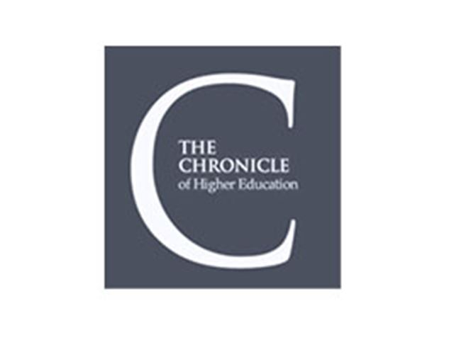 a logo for the Chronicle of Higher Education