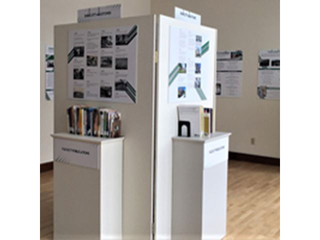An exhibit at the Archives event